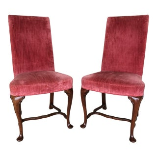Hickory Chair Company Red Velvet Accent Chairs- A Pair