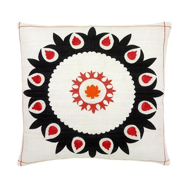 Large Fijian Decorative Pillow in Coral Chairish