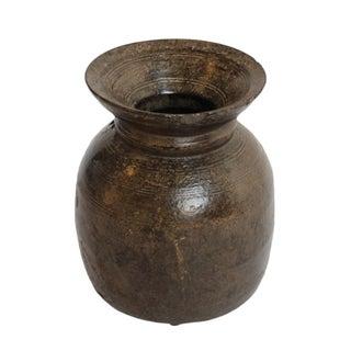 Vintage Wood Nepal Urn