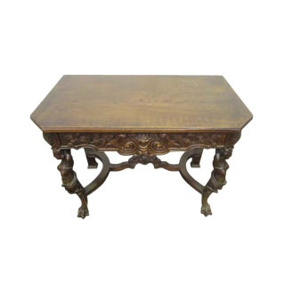 Bear Claw Wooden Console Table