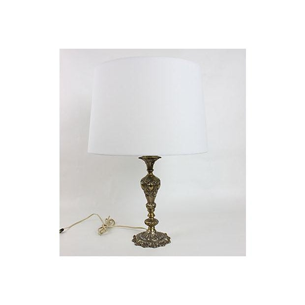 Vintage 1950s Hollywood Regency Gilt Table Lamp - Image 2 of 3