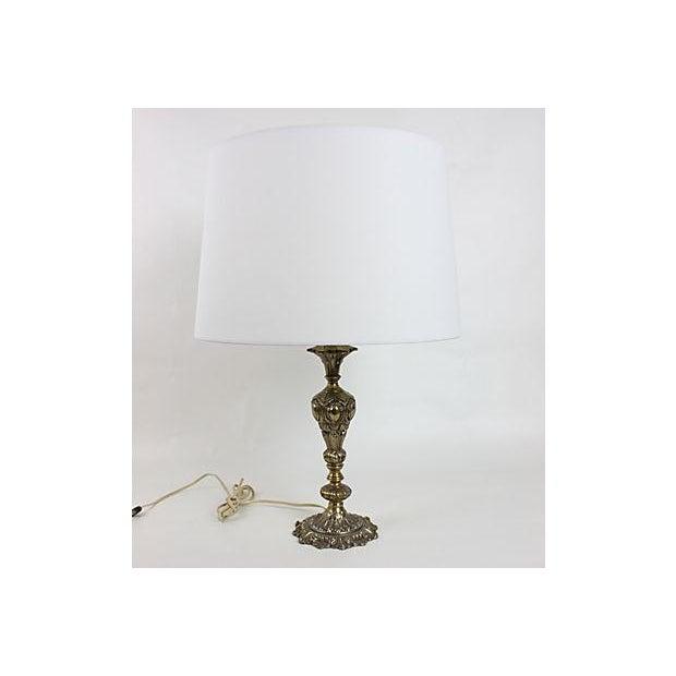 Image of Vintage 1950s Hollywood Regency Gilt Table Lamp