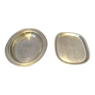 Pair of Pewter Plate and Dish