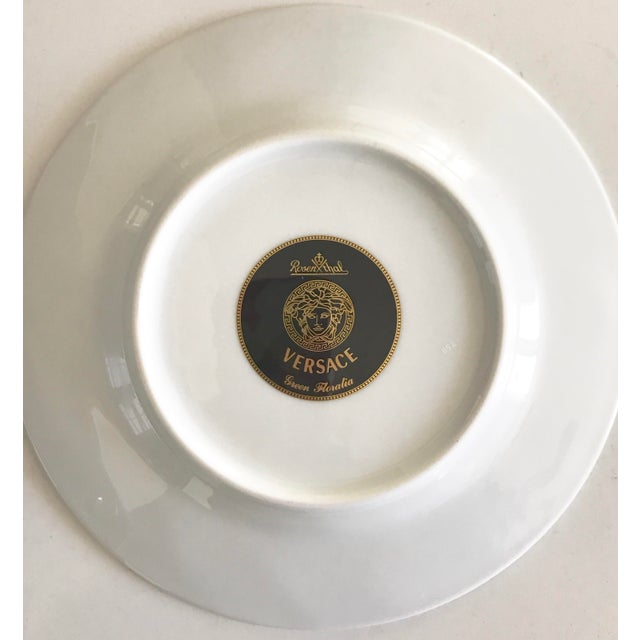 "Versace by Rosenthal ""Green Floralia"" Small Plates- Set of 6 - Image 3 of 5"