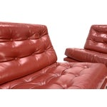 Image of Founders Leather & Bronze Lounge Chairs - A Pair