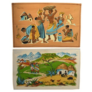 Vintage South African Placemats - Set of 2