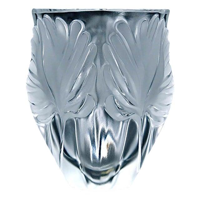 "Lalique ""Palm Fronds"" Crystal Vase - Image 1 of 5"
