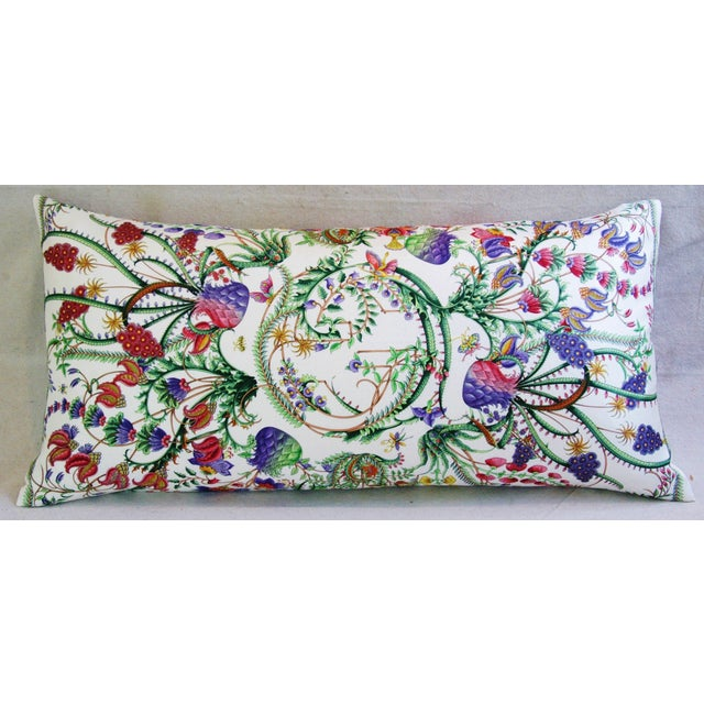 Designer Italian Gucci Floral Fanni Silk Pillow - Image 3 of 11