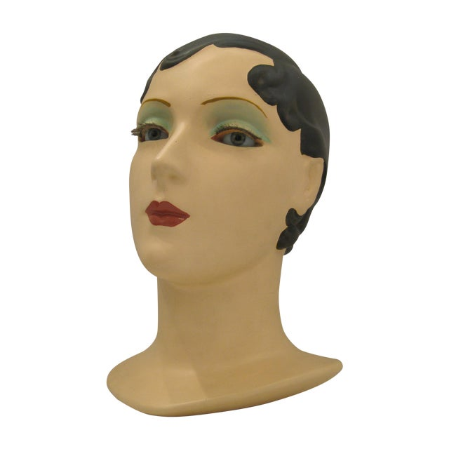 Brunette Vintage Mannequin Head - Image 1 of 6