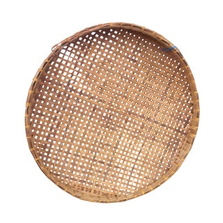 Extra Large Round Wicker Flat Basket Wall Hanging
