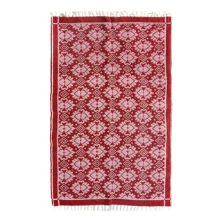 Double-Sided Arya Elvis Red & Pink Wool Rug - 3'9 X 5'10