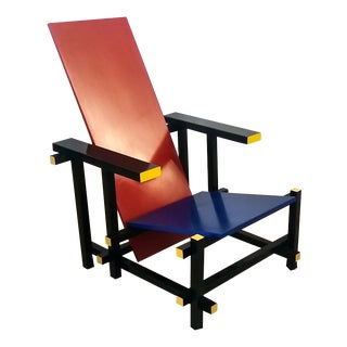 Red & Blue Chair After Gerrit Rietveld