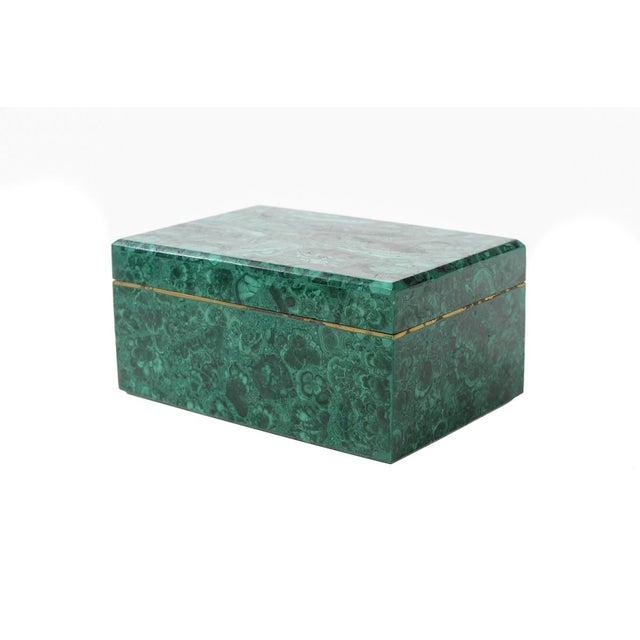 Image of Malachite French Rectangular Jewelry Box