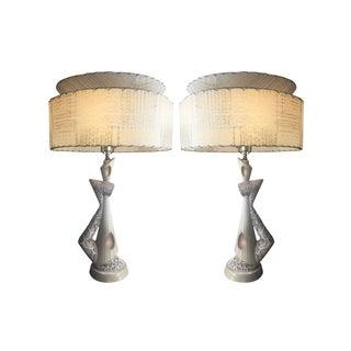 Mid-Century Plasto Lamps - A Pair