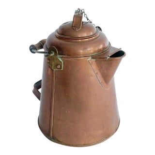 Antique Copper & Brass Kettle