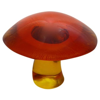 Vintage Blenko Magic Mushroom Sculpture