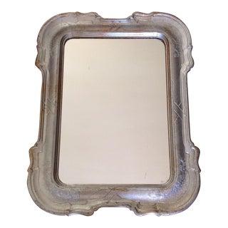Vintage Silver & Antique Gold Tone Florentine Mirror