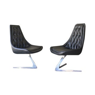 Chromcraft Sculpta Chairs - A Pair