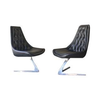 Chromcraft Sculpta Chairs - A Pair