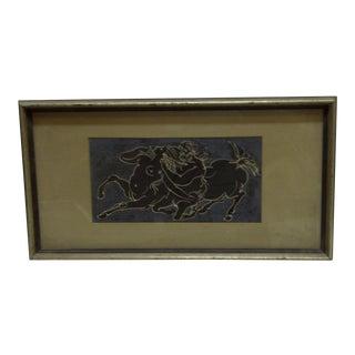Circa 1950 Framed The Minotaur Print