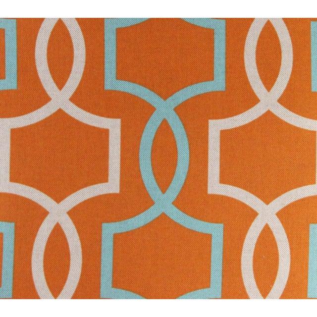 Orange Casey Linen Pillow - Image 7 of 7