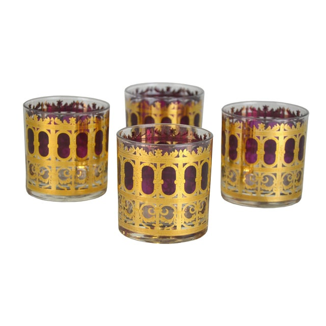 Vintage Metallic Gold Cocktail Glasses - S/4 - Image 1 of 4