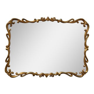 Vintage French Provincial Gold Wall Mantle Mirror