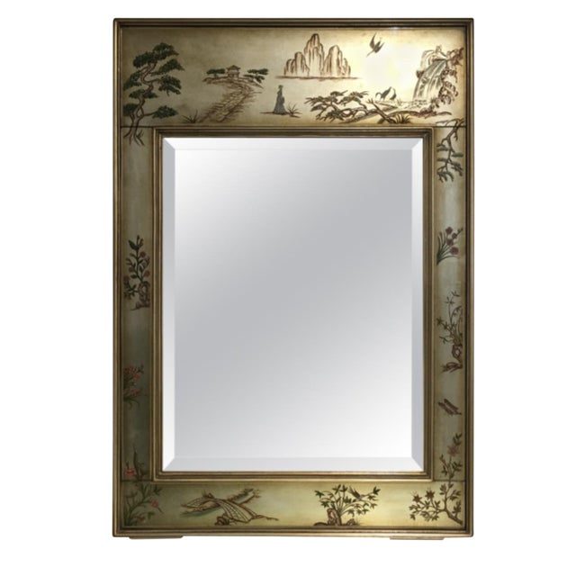 La Barge Chinoiserie Motif Mirror - Image 1 of 6