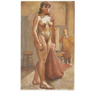 Vintage Nude Model Painting