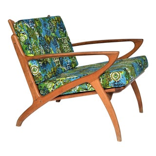 Mid Century Danish Modern Teak Selig Style Lounge Chair Inspired by Poul Jensen and Ib Kofod-Larsen Z Chair Millennial
