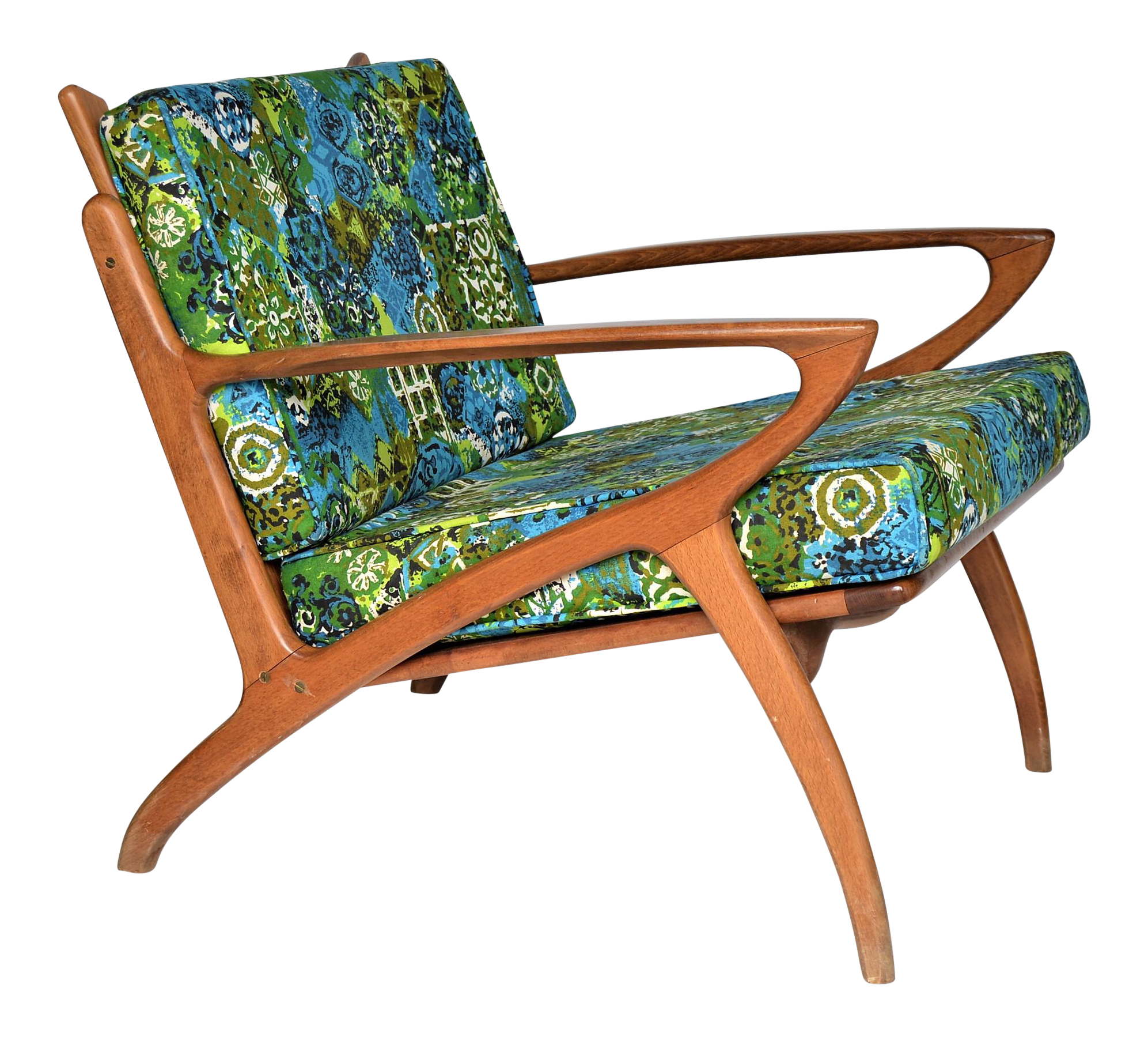 Mid Century Danish Modern Teak Selig Style Lounge Chair Inspired By Poul  Jensen And Ib Kofod