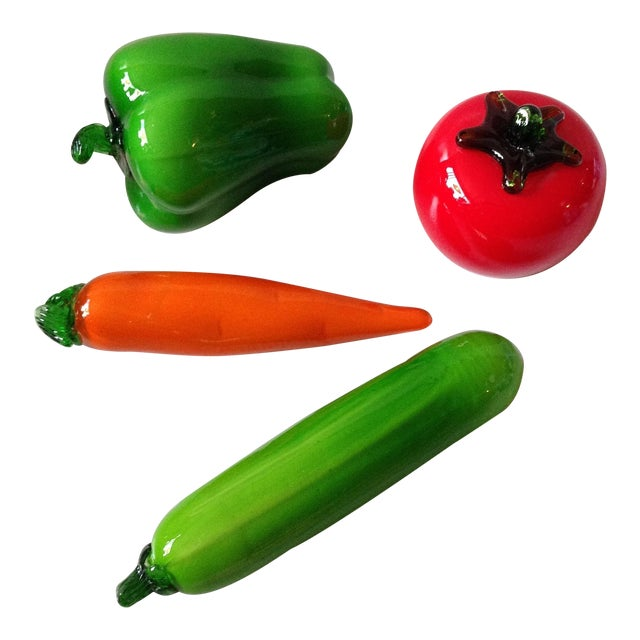 Image of Italian Glass Vegetables - Set of 4