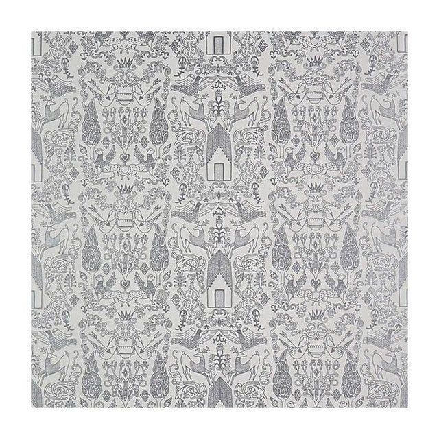 Image of 2 Rolls of CB2 Nethercote Wallpaper in Silver