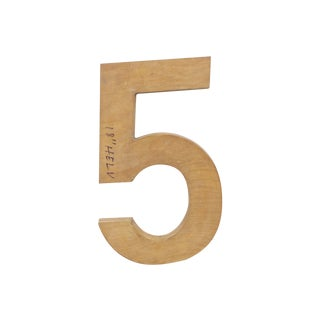 Vintage Wooden Number 5 from Oklahoma Foundry