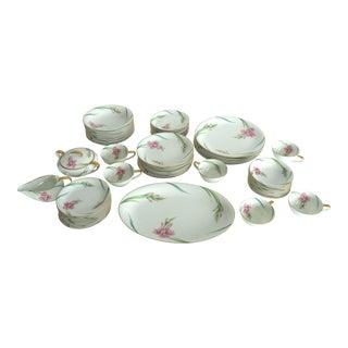 Noritake Gladiola Flowers Dinnerware - Set of 55