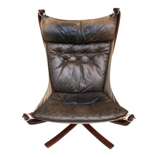 Sigurd Ressel for Vatne Mobler Mid-Century Leather Falcon Chair