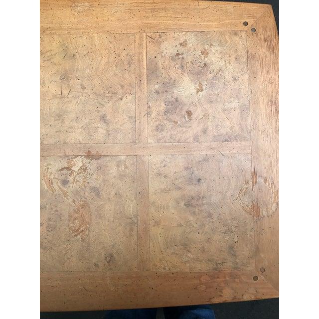 Mastercraft Desk Burled Wood - Image 10 of 11