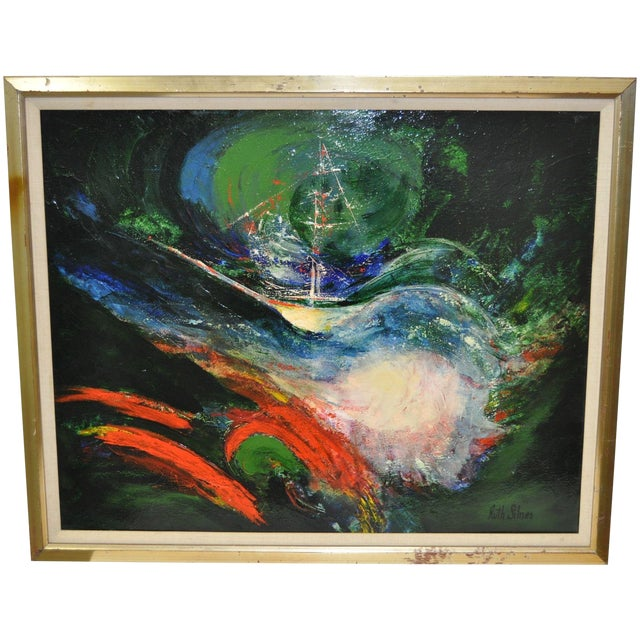 Image of Ruth Silnes 1960'S Acrylic Abstract Painting