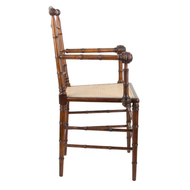 R.J. Horner & Co. Faux-Bamboo Armchair - Image 4 of 10