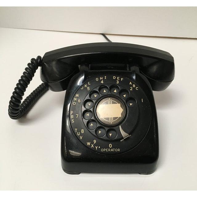 Image of Vintage Leich Black Bakelite Dial Telephone