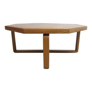 Vintage Mid-Century Lane X-Base Octagon Floating Coffee Table