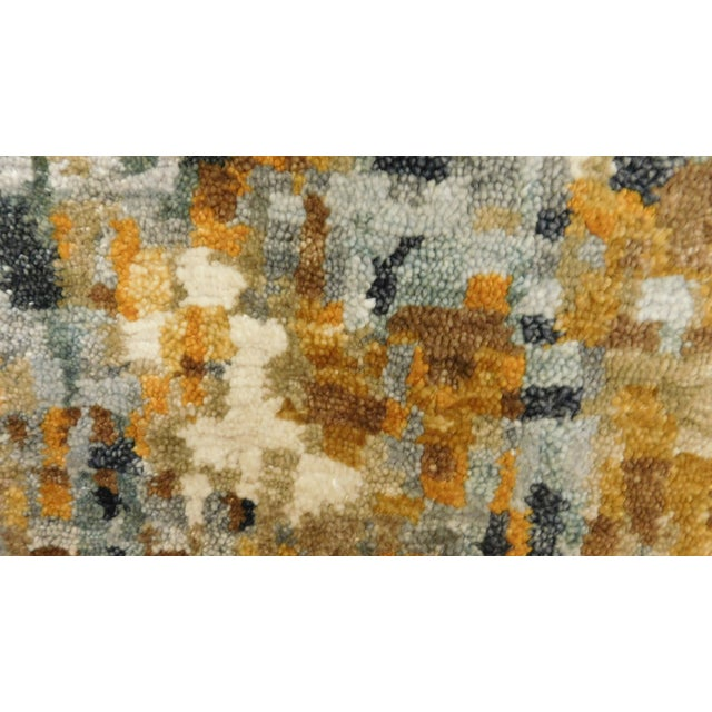"Modern Pixelated Bamboo Silk Rug - 9' X 12'1"" - Image 2 of 3"