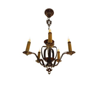 Hammered Iron Mediterranean Revival Chandelier