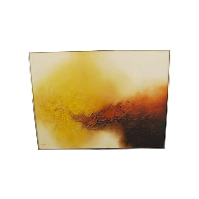 Image of Signed Ferris Abstract Oil Painting