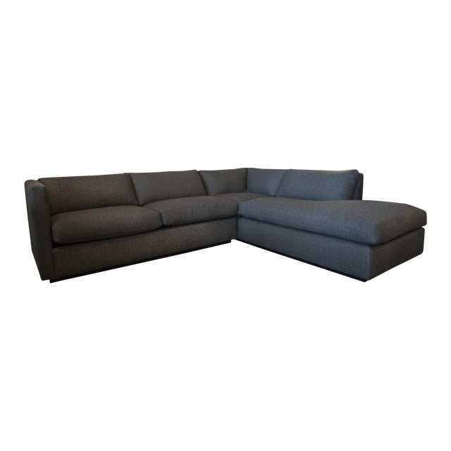 Nathan Anthony Upholstered Gray Sectional - Image 1 of 4