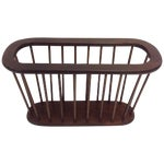 Image of Arthur Umanoff Walnut Spindle Magazine Rack