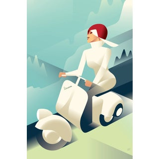 Mads Berg 'Vespa' Art Deco Danish Poster