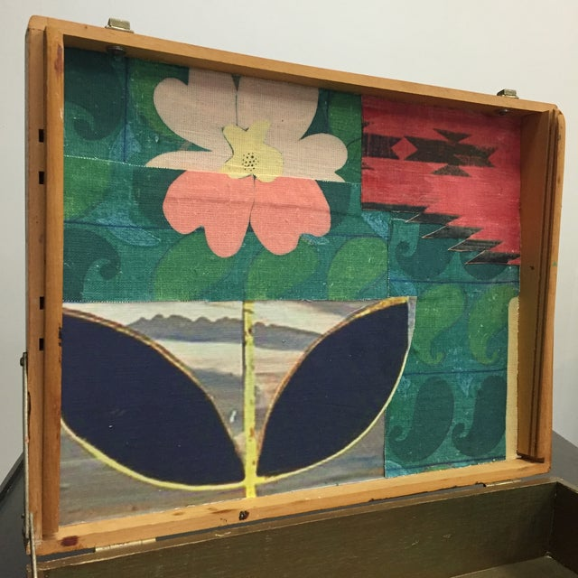 Vintage Artist Box With Collage Interior - Image 4 of 8