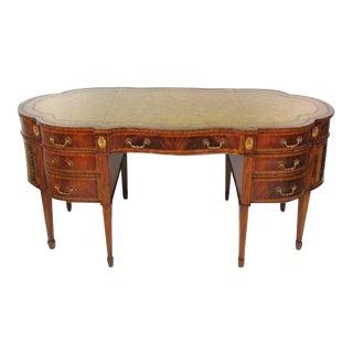 Maitland Smith Leather Top Mahogany Desk