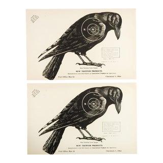 1960s Crow Raven Trenton Paper Targets - A Pair